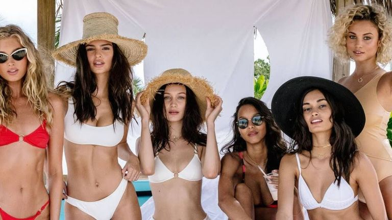 Emily Ratajkowski, Bella Hadid and Jasmine Tookes joined the promotional campaign