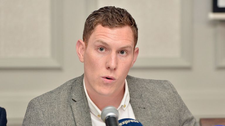 John McAreavey has returned to Mauritius to appeal for help in catching his wife's murderer