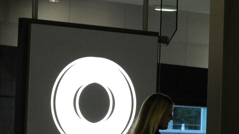 The circular logo of Macquarie Bank adorns the foyer as Australia's biggest investment bank announces a full-year net profit of 1.04 billion USD in Sydney on April 29, 2011