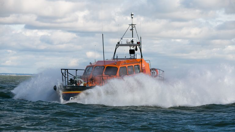 The RNLI said it was looking to restore service 'in the next couple of days'. File pic