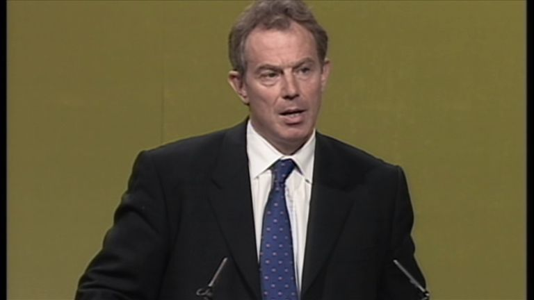 Tony Blair responds to the attacks on the World Trade Centre at the TUC in 2001