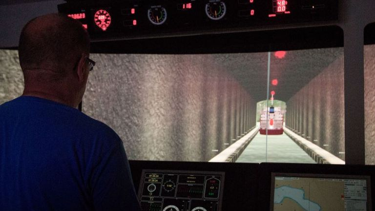 How the tunnel will look from the cabin Pic: Kystverket/ Norwegian Coastal Administration