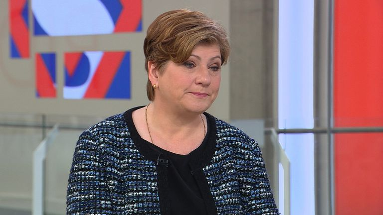 Emily Thornberry MP in the glass box studio.
