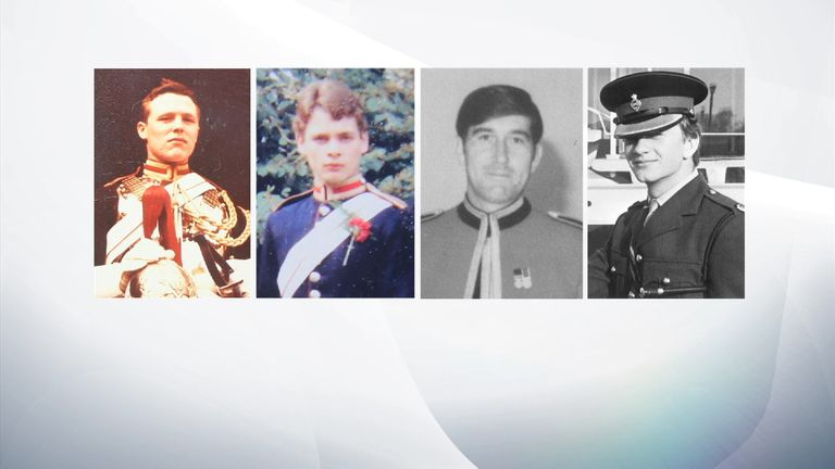Victims Corporal Roy Bright and Lieutenant Anthony Daly