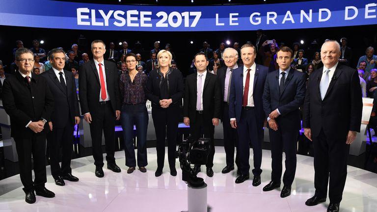 Jean-Luc Melenchon (far-left)