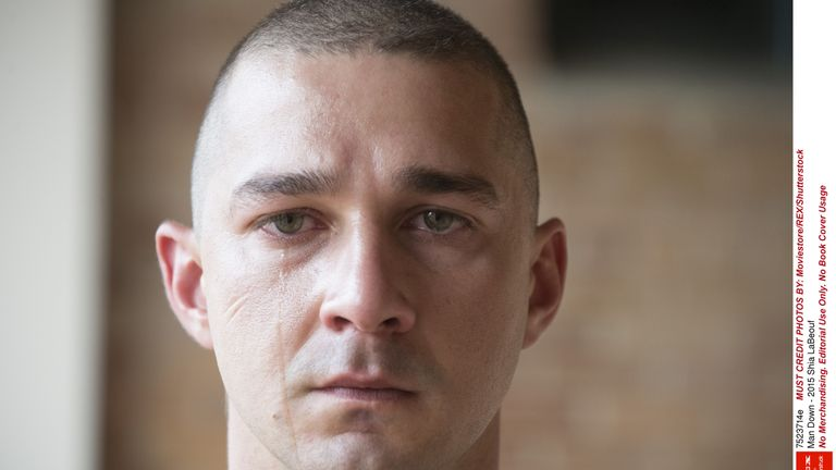 Shia LaBeouf plays a US war veteran suffering from PTSD