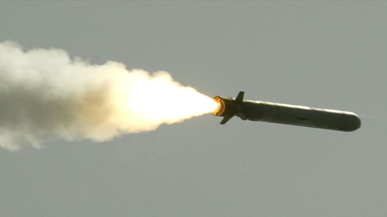 A Tomahawk cruise missile