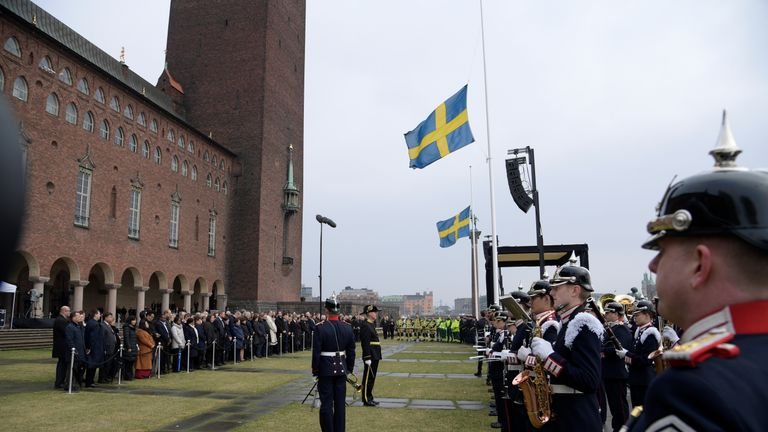 The official ceremony at Stockholm City Hall