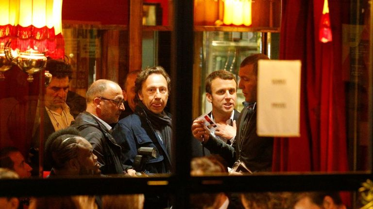 Emmanuel Macron celebrated his success at one of his favourite restaurants