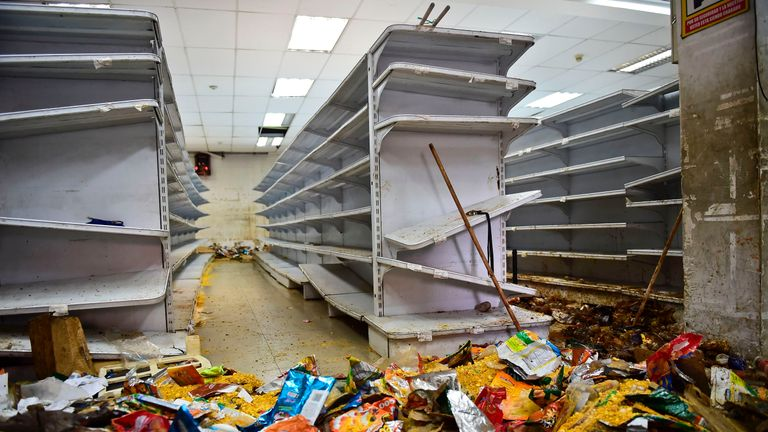Looting has been a problem in some area of the capital, Caracas