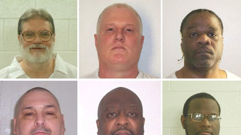 Six of the inmates scheduled for execution in an 11-day period