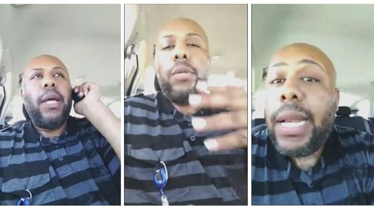 Steve Stephens is described as a black male, 6ft 1ins and 244lbs with a full beard