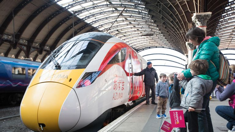 Virgin Trains' new Azuma at York Station
