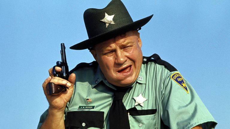 Clifton James as Sheriff JW Pepper in Live and Let Die.  Pic: Danjaq/EON/UA/REX/Shutterstock