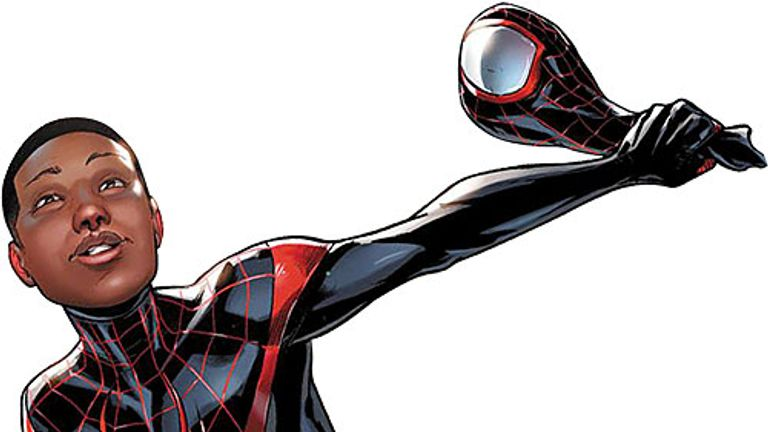 Young Miles Morales, the first black Spider-Man