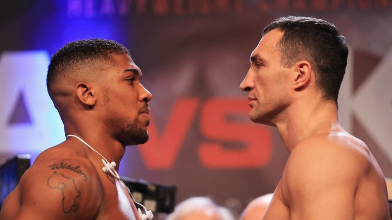 Anthony Joshua and Wladimir Klitschko