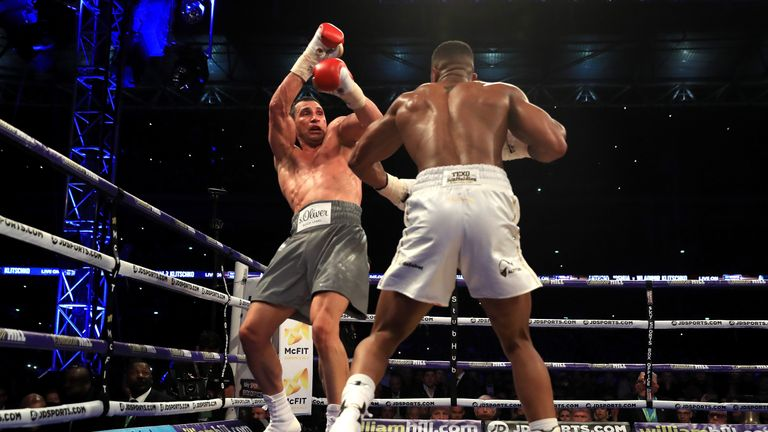 Anthony Joshua beats Wladimir Klitschko at Wembley