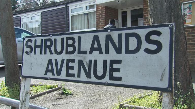 The attack happened on Shrublands Avenue