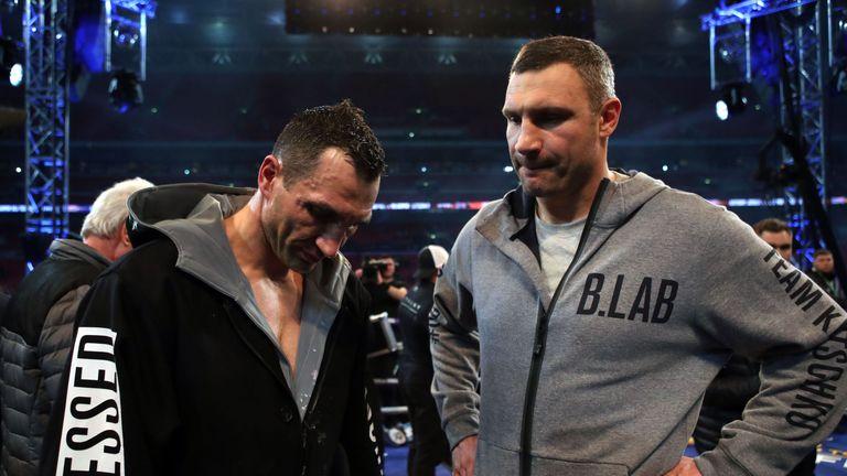Wladimir Klitschko's with his brother Vitali