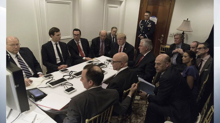Donald Trump and his advisers