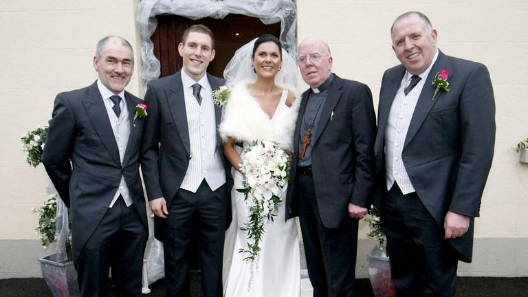 John McAreavey and wife Michaela on their wedding day at St. Malacheys Church Ballymacilrory in 2010