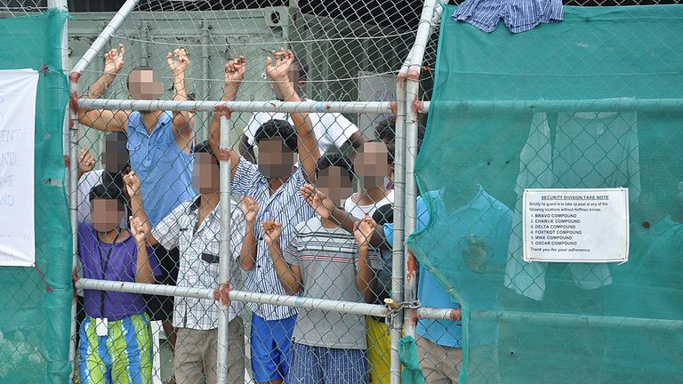 Australia has been under pressure to close the offshore refugee camps