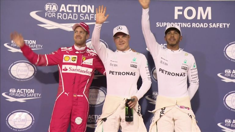 Bottas i pole position
