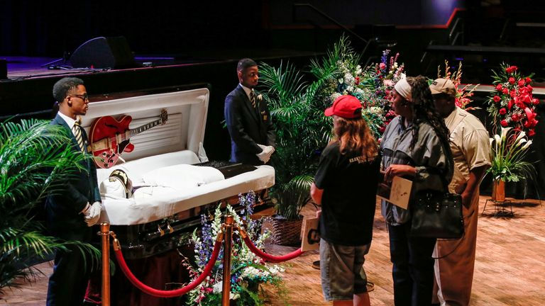 Fans pay their respects to the late musician