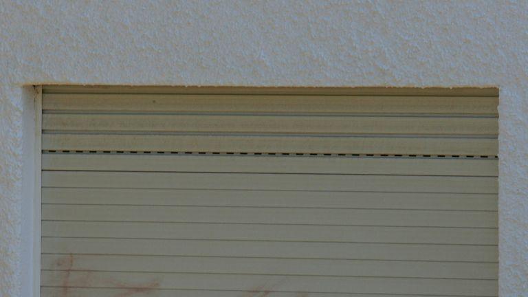 The bedroom window where Madeleine McCann went missing in Praia da Luz