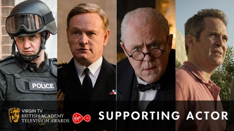 Jared Harris and John Lithgow are nominated for best supporting actor