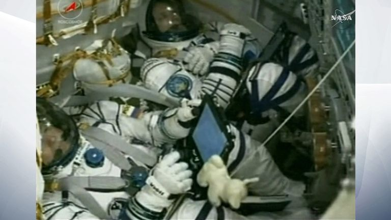 There was a seat to spare for the Soyuz space capsule's flight to the ISS