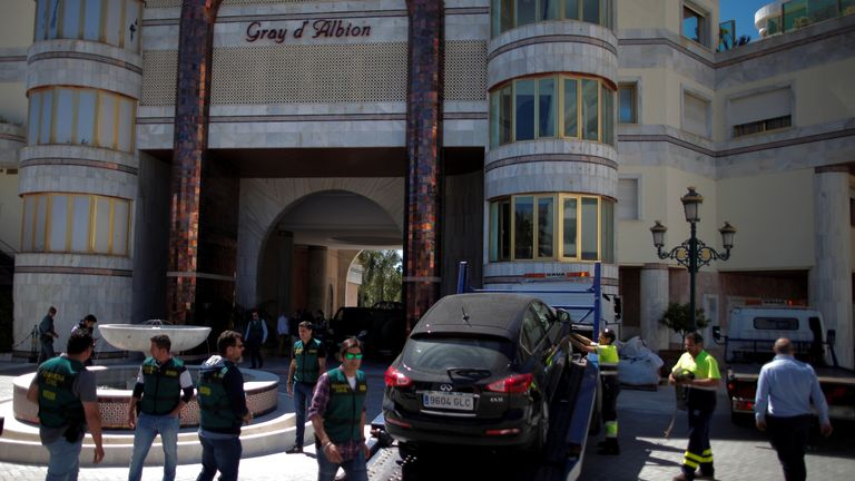 A building in Marbella seized by Spanish authorities from Rifaat al Assad