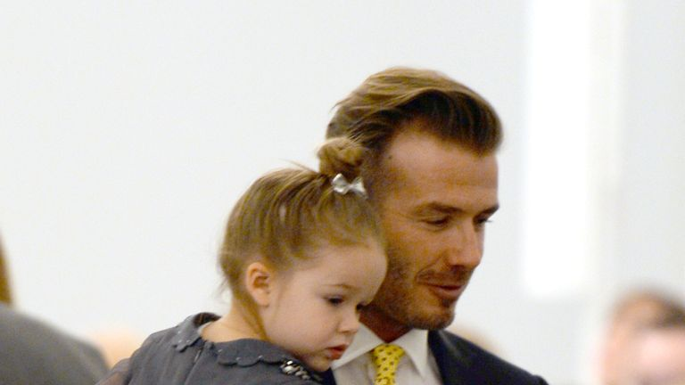 David Beckham and daughter Harper pictured in 2014