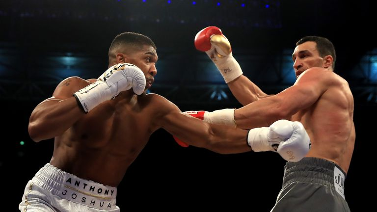 Anthony Joshua has beaten Wladimir Klitschko