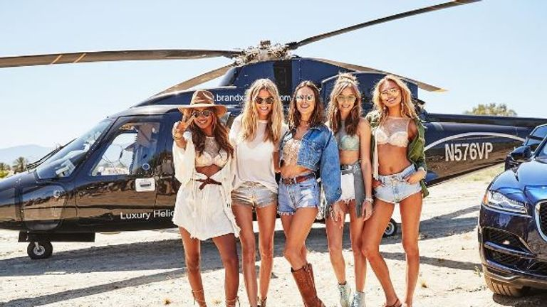 The Victoria's Secret angels on their way to... guess where?