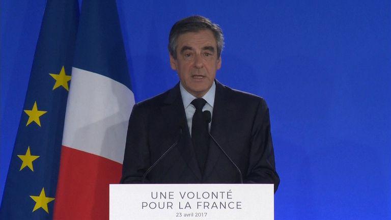 Francois Fillon concedes defeat