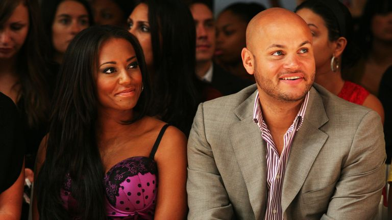 Melanie Brown and Stephen Belafonte pictured in 2008