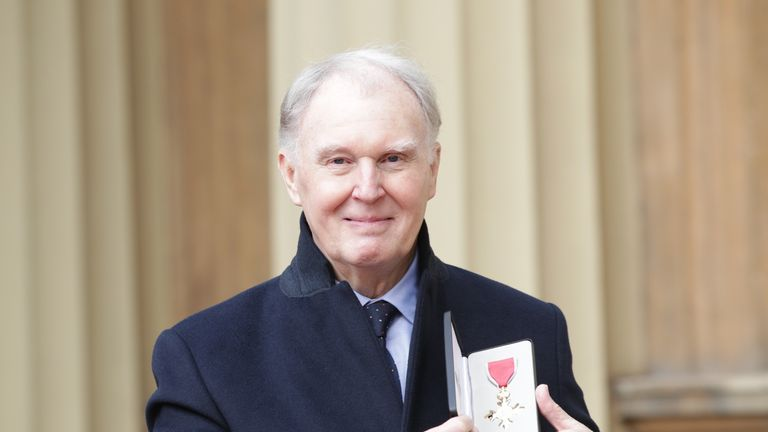 Tim Pigott-Smith after receiving his OBE from Prince William in March