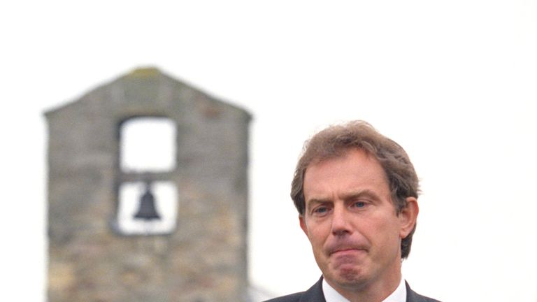 Prime Minister Tony Blair addresses the nation following the news of the death of Diana, Princess of Wales
