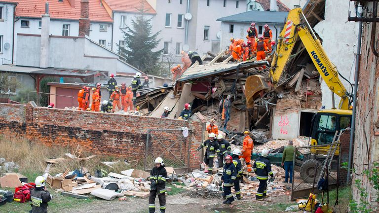 Poland's interior minister says he is confident no one else is trapped under the rubble