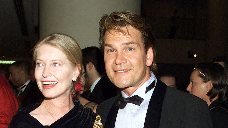 Patrick Swayze and his wife Lisa in 2002