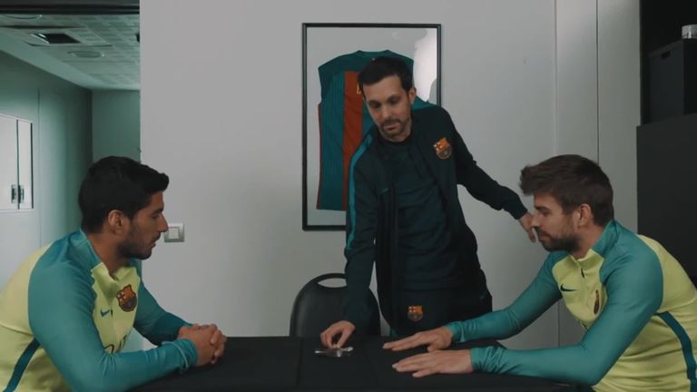 Dynamo entertains Barcelona  stars Luis Suarez and Gerard Pique