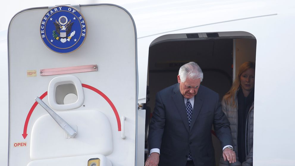 Rex Tillerson arrives in Moscow