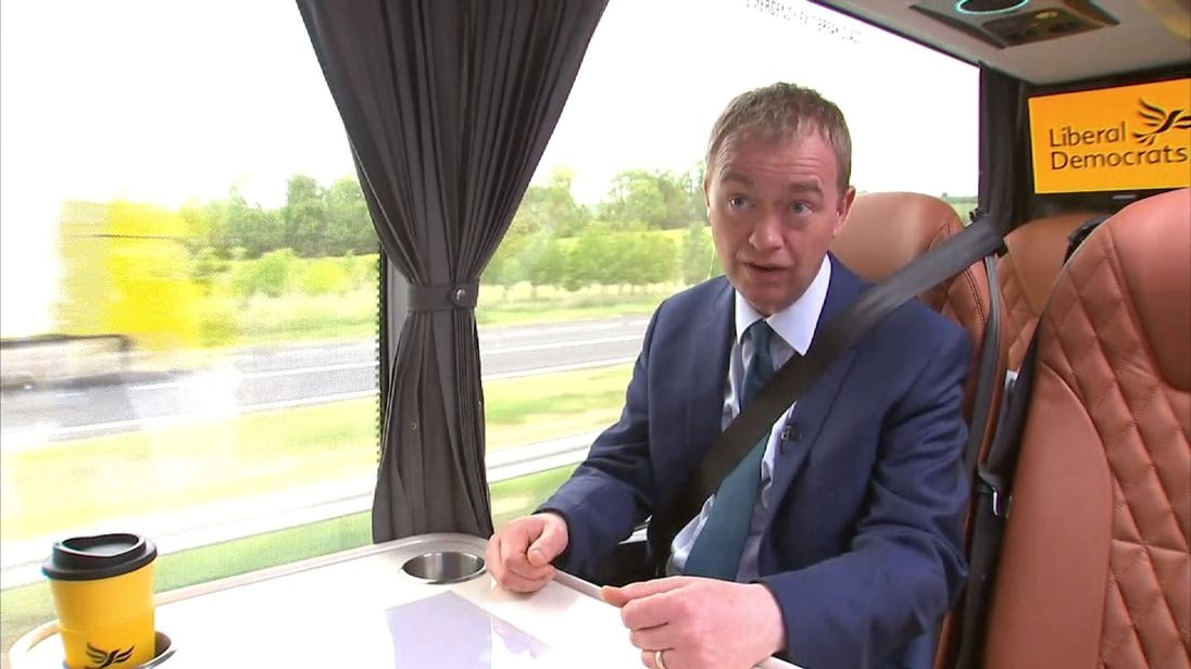 Tim Farron reacts to Labour's manifesto