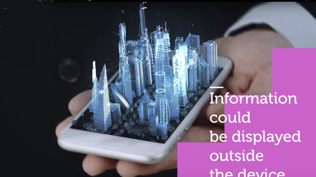 The miniature technology could allow mobile phones to project holograms.