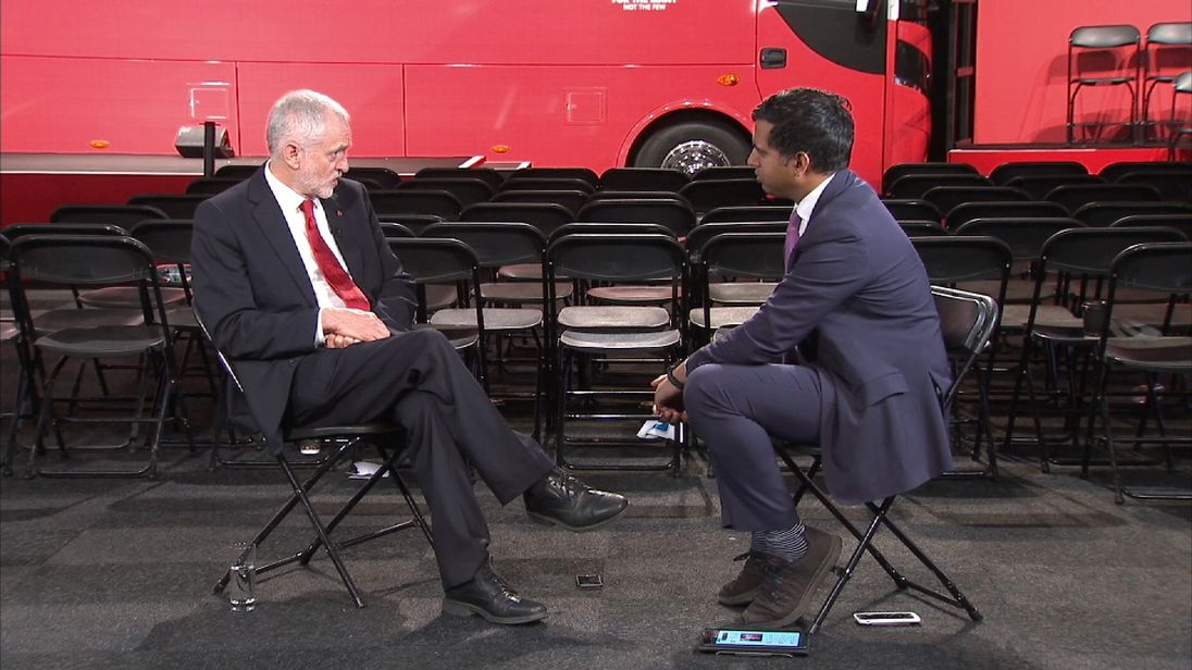 Labour leader Jeremy Corbyn discusses Labour's proposals for tax and Europe