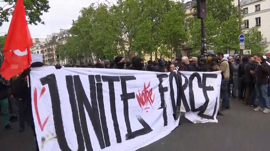 Anti-Macron protests begin