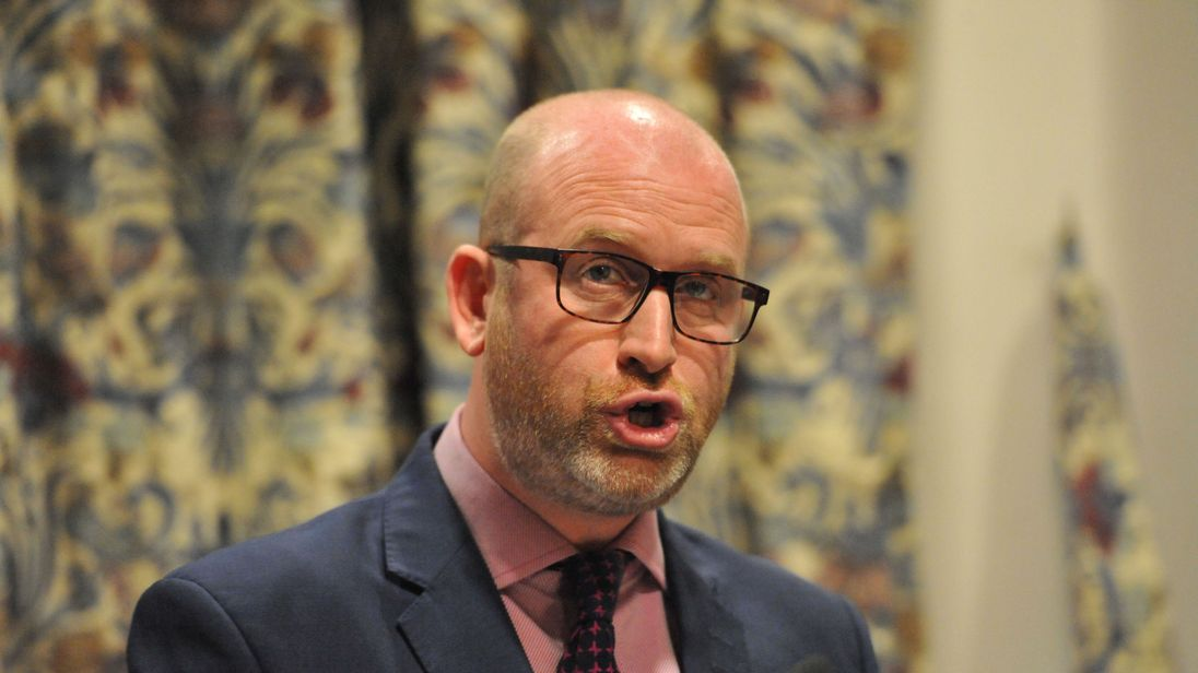 UKIP leader Paul Nuttall speaking in Westminster, London at a policy launch