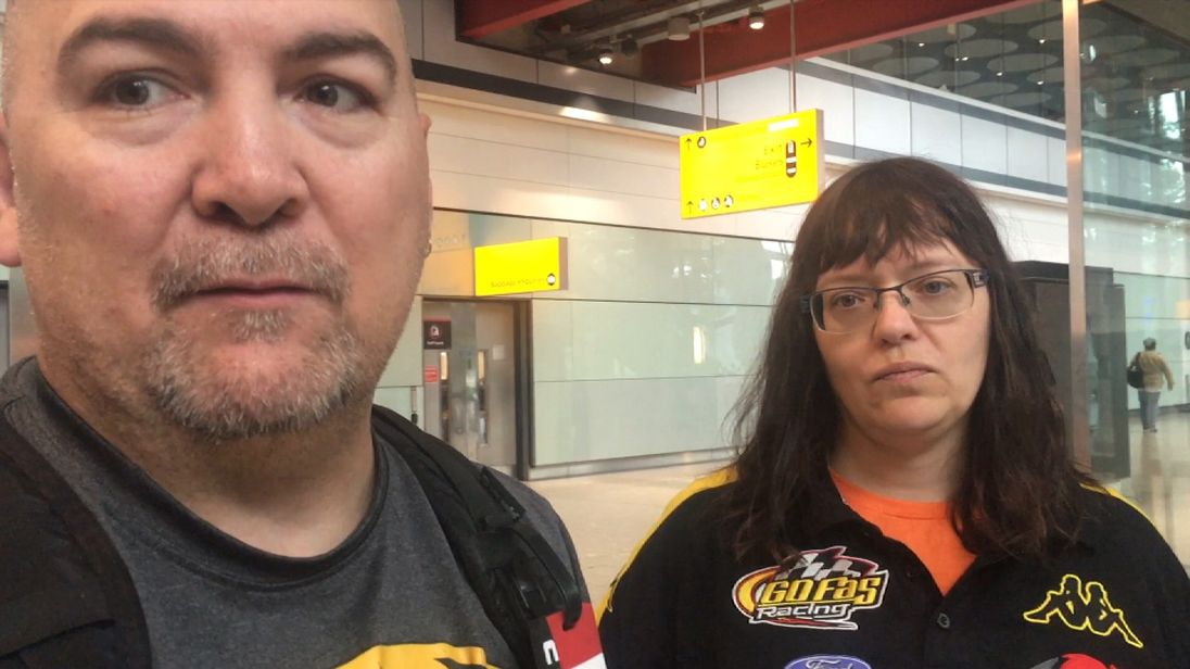 Daniel and Karen Martin have been stuck in Heathrow airport for three days