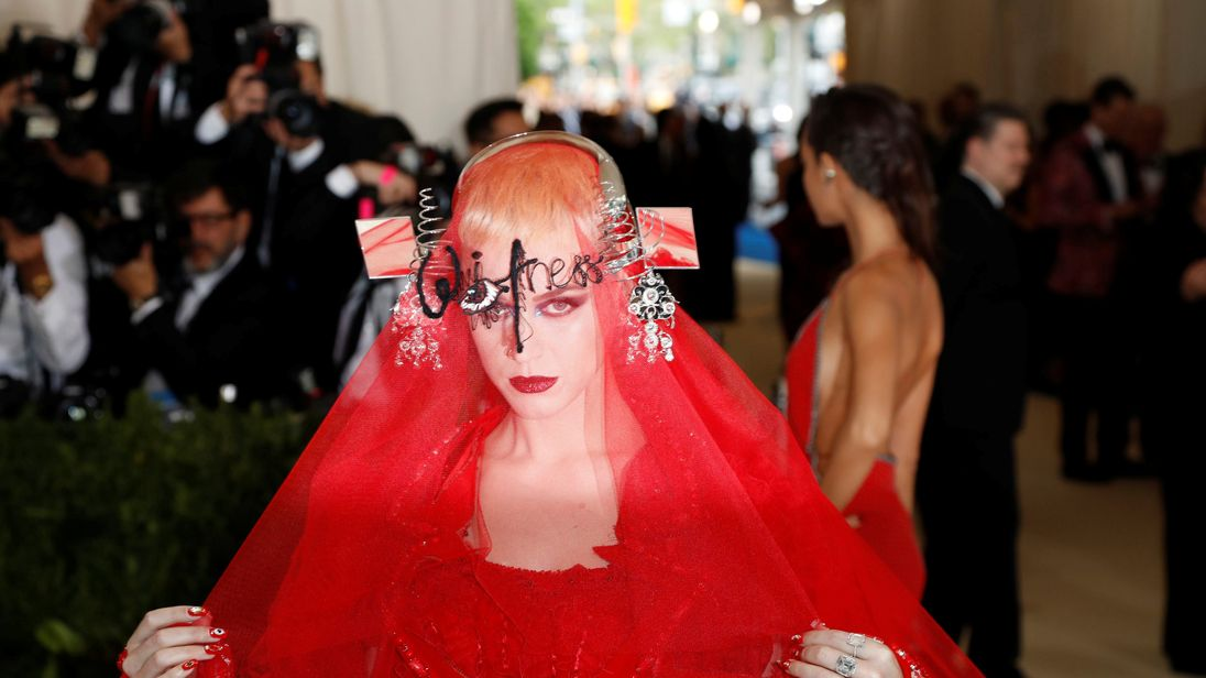 A guest at the annual Met Gala